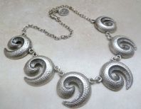 Hand Crafted Spiral Necklace By Damsel.